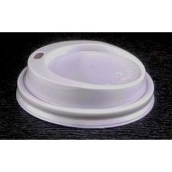 Couvercle plastique pour gobelet carton 18 cl