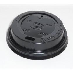 Couvercle plastique noir pour gob carton 25 et 30 cl