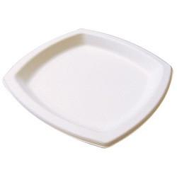Assiette pulpe carree 17x17 cm les 25
