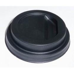 Couvercle plastique noir pour gobelet carton 10 cl