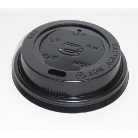 Couvercle gobelet carton 25 cl noir