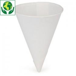 Gobelet Cone 12 cl papier blanc