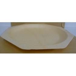 Assiettes en bois de 26 cm les 25