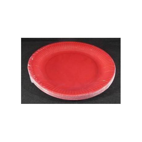 Assiettes carton 18 cm Rouge